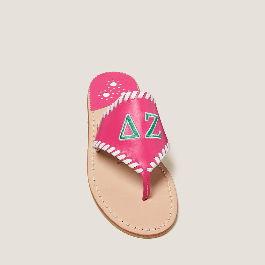 Delta Zeta Embroidered Sandal